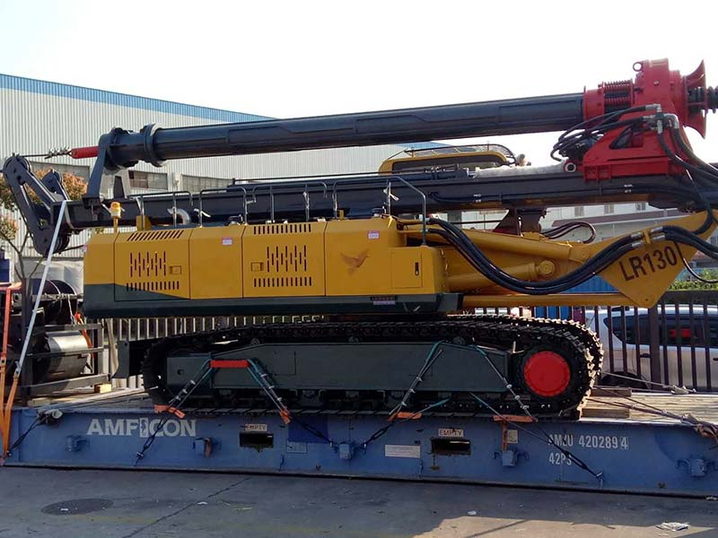 Successful Delivery of Rotary Drilling Rig LR130 Ordered by Indian Customer