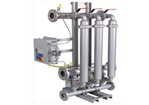 Tubular liquid automatic backwash filtration system